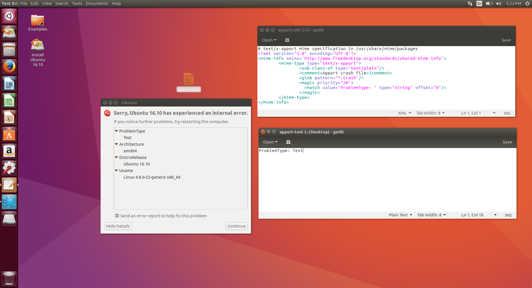 Reliably compromising Ubuntu desktops by attacking the crash